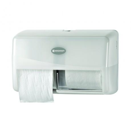 Dispenser pentru hartie igienica Herzkraft duo standard pearl alb