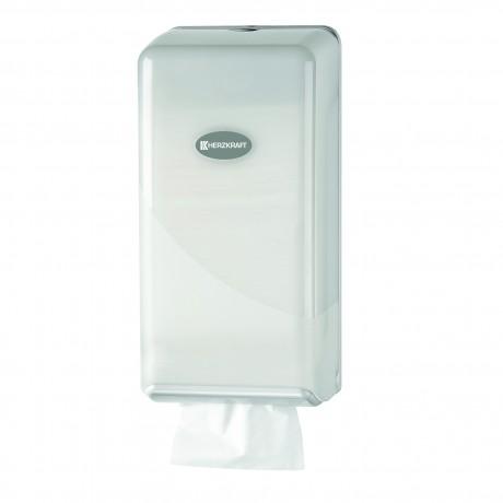 Dispenser pentru hartie igienica Herzkraft bulpack white pearl