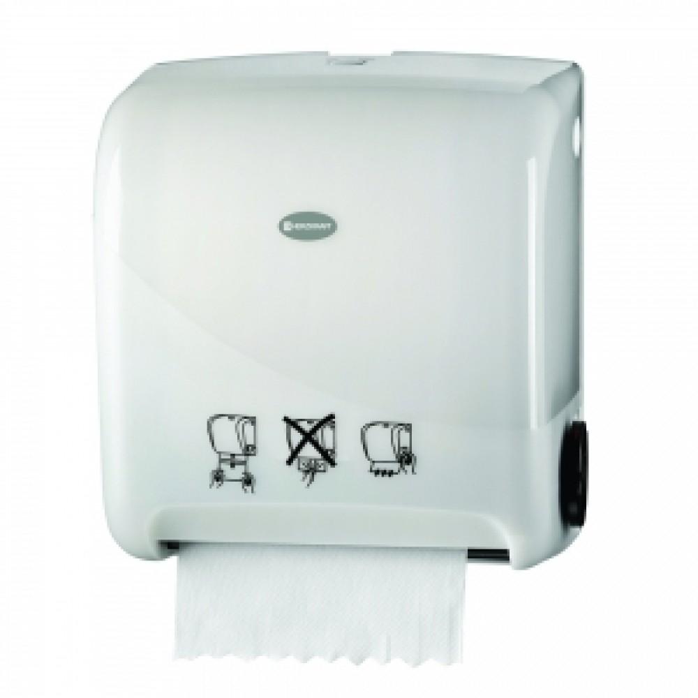Dispenser pentru prosoape hartie Herzkraft Matic auto cut pearl alb