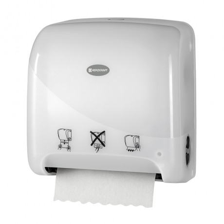 Dispenser pentru prosoape hartie Herzkraft Matic XL auto cut pearl alb