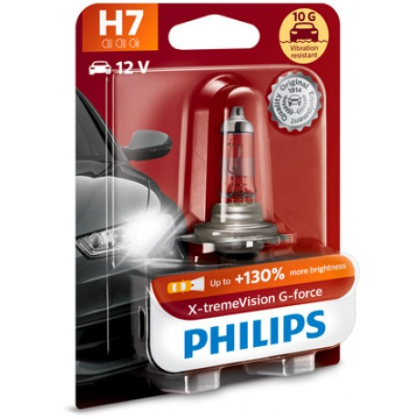 Bec auto cu halogen H7 55W 12V Philips X-treme Vision G-Force