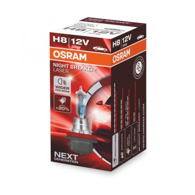 Bec auto cu halogen H8 12V 35W Osram Night Breaker Laser +150% 64212NL