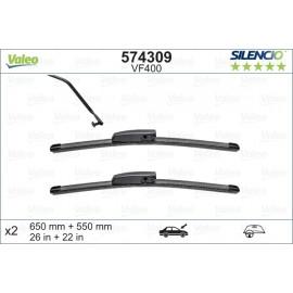 Set stergatoare parbriz Valeo Silencio 650/550mm VF400 Renault Meganic Scenic