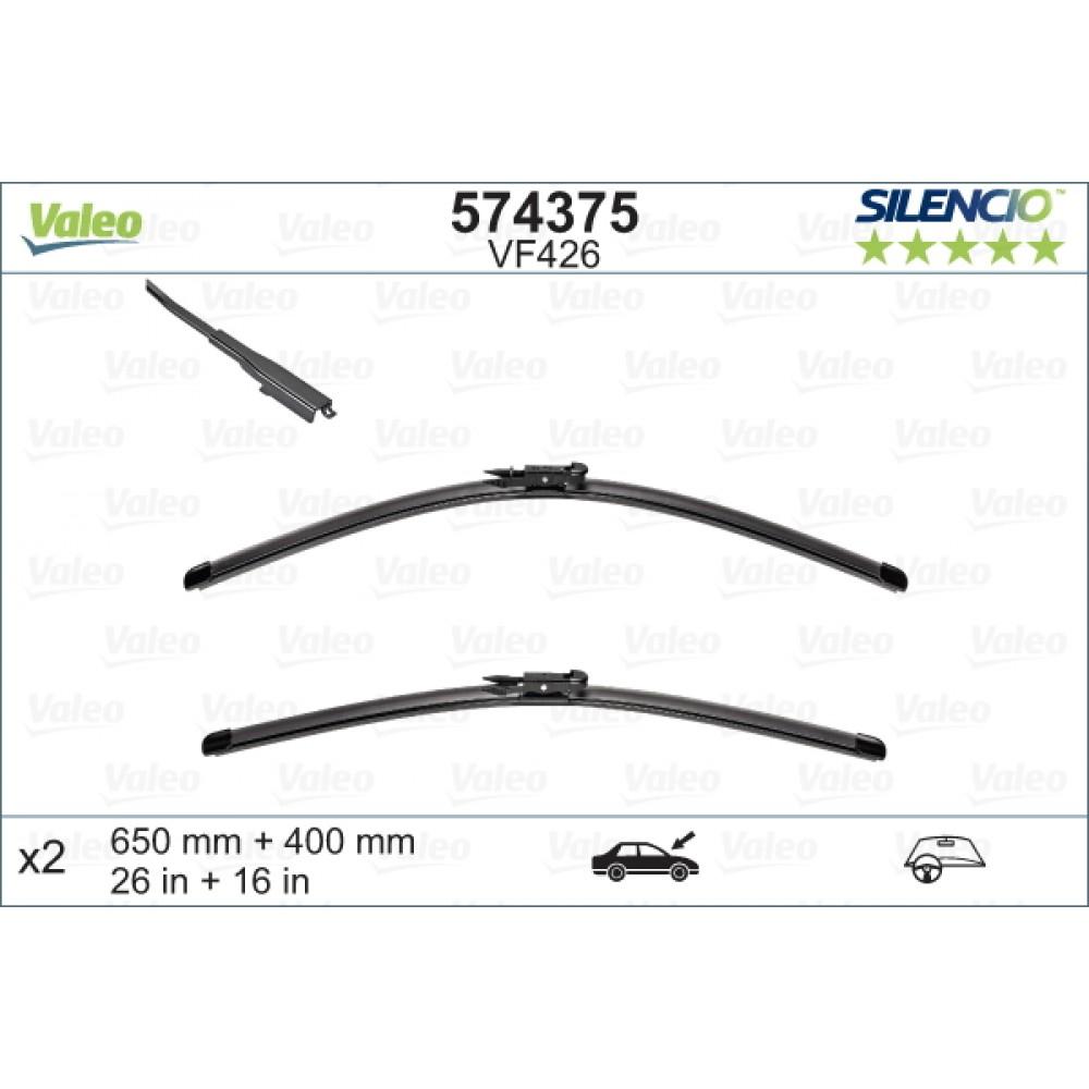 Set stergatoare de parbriz Valeo Silencio 650/400mm pentru Opel Corsa D Corsa E