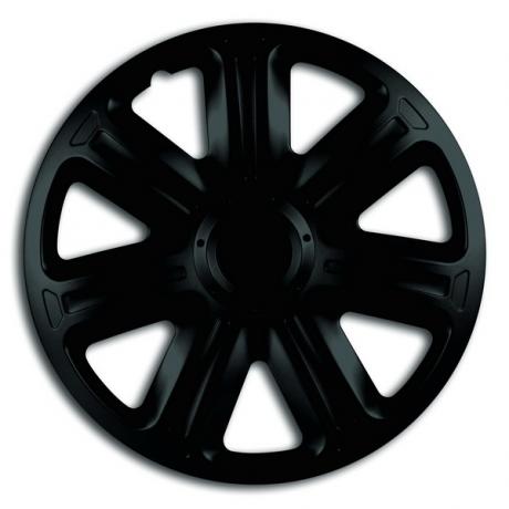 Capace pentru roti de 14 inch Mega Drive negre Comfort set 4 bucati