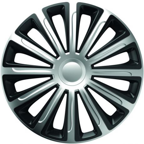 Set 4 capace roti de 14 inch Mega Drive Silver & Black Trend