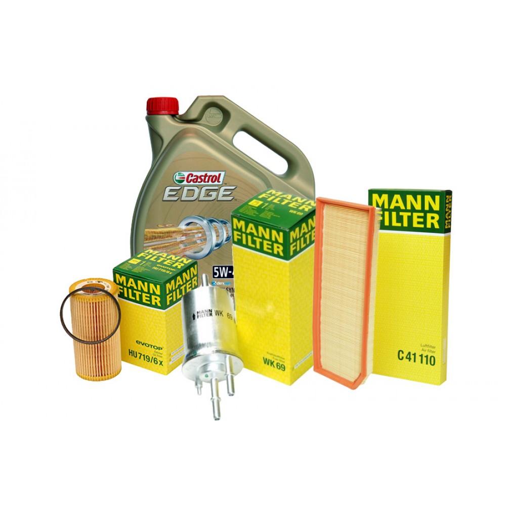 Pachet revizie AUDI A3 2.0 TFSI 200CP Cod motor AXX, BWA Mann-filter