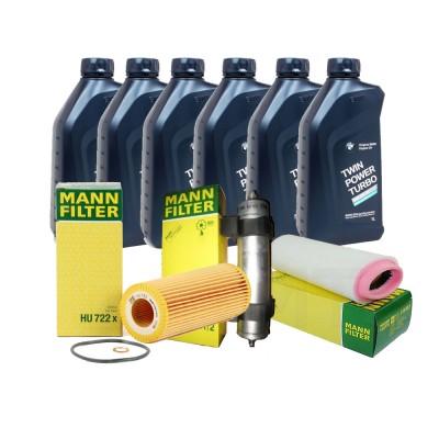 Pachet revizie BMW Seria 3 E46 320D 150CP Cod motor M47 D20 ( 204D4 ) Mann filter