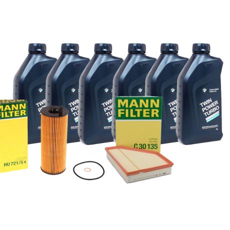 Pachet revizie BMW Seria 3 E90 320XD 177CP Cod motor N47 D20C Mann filter