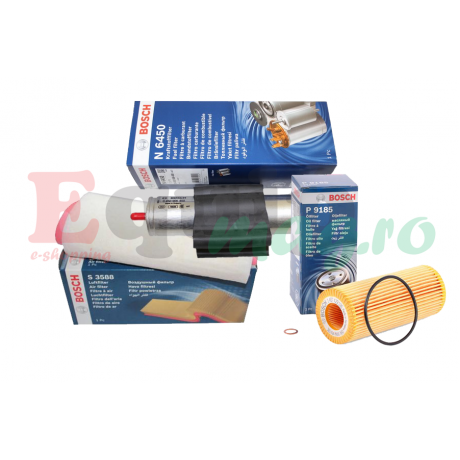 Pachet revizie filtre BMW Seria 3 E46 320D 150CP Cod motor M47 D20 ( 204D4 ) Bosch
