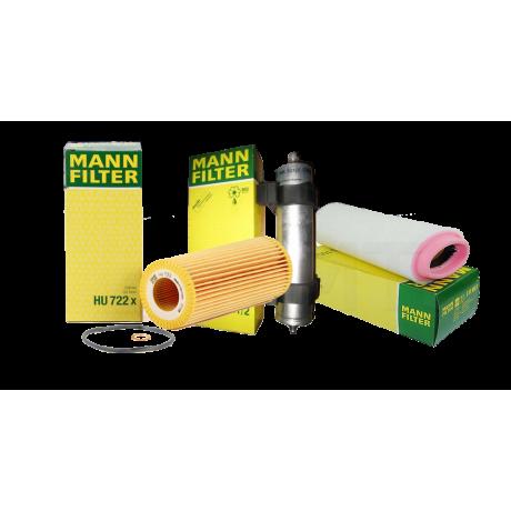 Pachet revizie filtre BMW Seria 3 E46 320D 150CP Cod motor M47 D20 ( 204D4 ) Mann filter