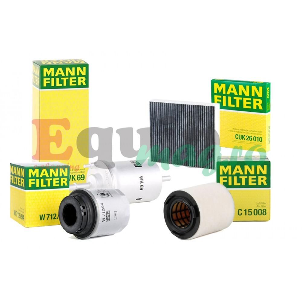 Pachet revizie filtre Skoda 1.2 TSI 105CP Cod motor CBZB Mann filter
