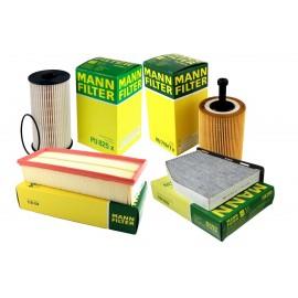 Pachet revizie filtre VW PASSAT B6 2.0 TDI 140CP Cod motor BMP Mann filter