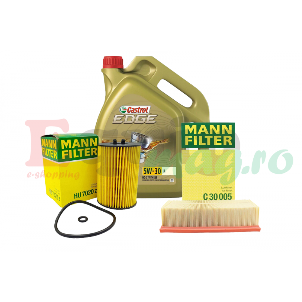 Pachet revizie VW PASSAT B8 1.6TDI 120CP Cod motor DCXA DCZA Mann filter