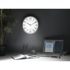 Ceas de perete cu cifre arabe si sistem de iluminare Unilux Moon
