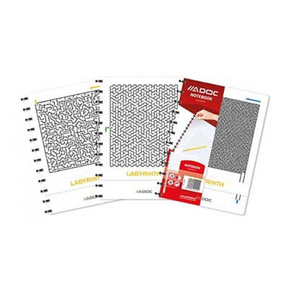 Caiet A4, 72 file - 90g/mp, coperta carton embosat PP - labyrinth, AURORA
