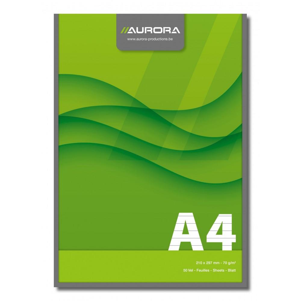 Blocnotes lipit, hartie - 70g/mp, AURORA Office