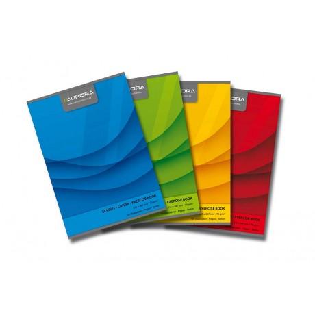 Caiet A4, 60 file - 70g/mp, liniat stanga, coperta carton color, AURORA Office