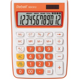Calculator de birou, 12 digits, 145 x 104 x 26 mm, Rebell SDC 912