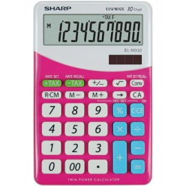 Calculator de birou, 10 digits, 149 x 100 x 27 mm, dual power, SHARP EL-M332BBL