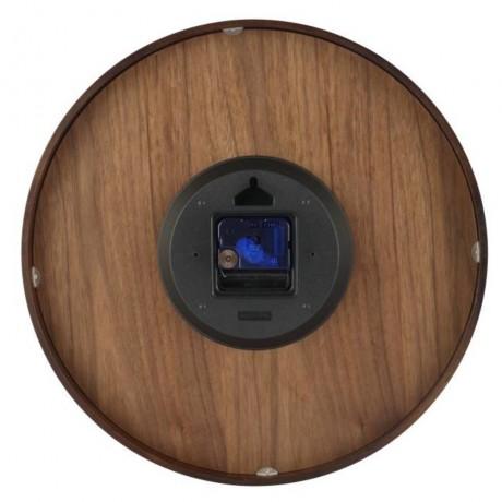 Ceas de perete diametrul 35cm din lemn NeXtime, maro