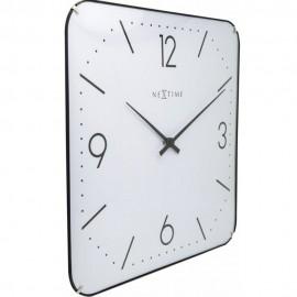 Ceas de perete, 35x35 cm, cifre arabe, sticla convexa, NeXtime Basic Square Dome