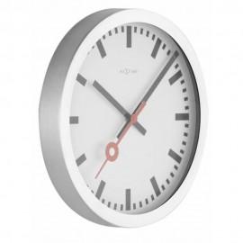 Ceas de perete, diametrul 19 cm, aluminiu, NeXtime Station