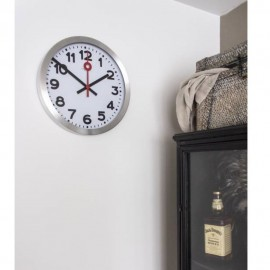 Ceas de perete, diametru 35 cm, cifre arabe, aluminiu, NeXtime Station