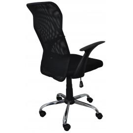 Scaun de birou, brate plastic, rotile, mesh textil, Office Products Rhodos - negru