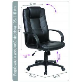 Scaun de birou din piele ecologica si cu rotile Office Products Corsica