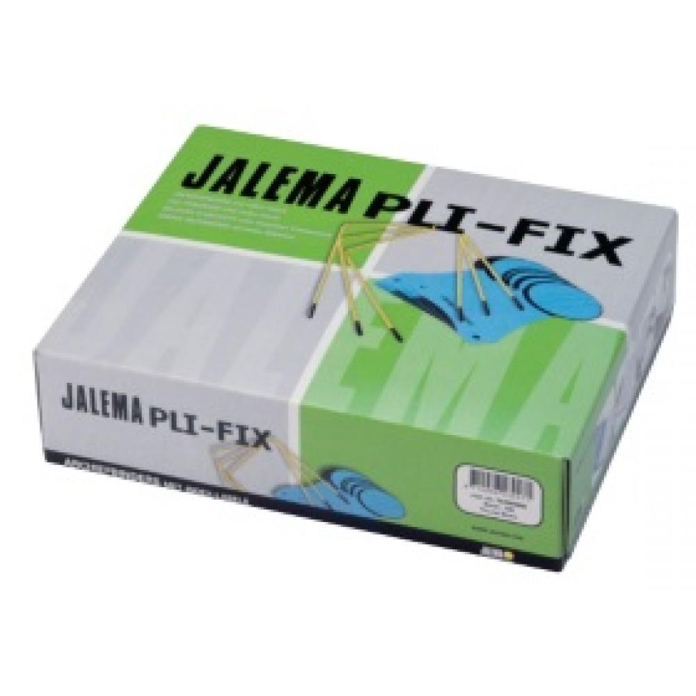 Alonja arhivare de mare capacitate, cu insertie metalica, 100/cutie, JALEMA Pli-Fix - galben/negru
