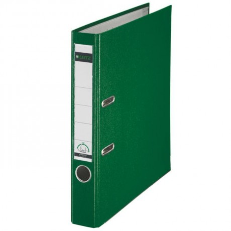 Biblioraft LEITZ 180, A4, plastifiat PP, margine metalica 52 mm 350 coli