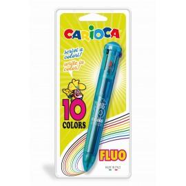 Pix cu 10 culori fluorescente, blister, CARIOCA