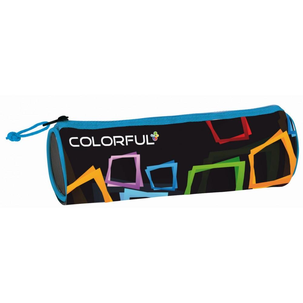 Penar cilindric cu fermoar, ALPINO Colorful