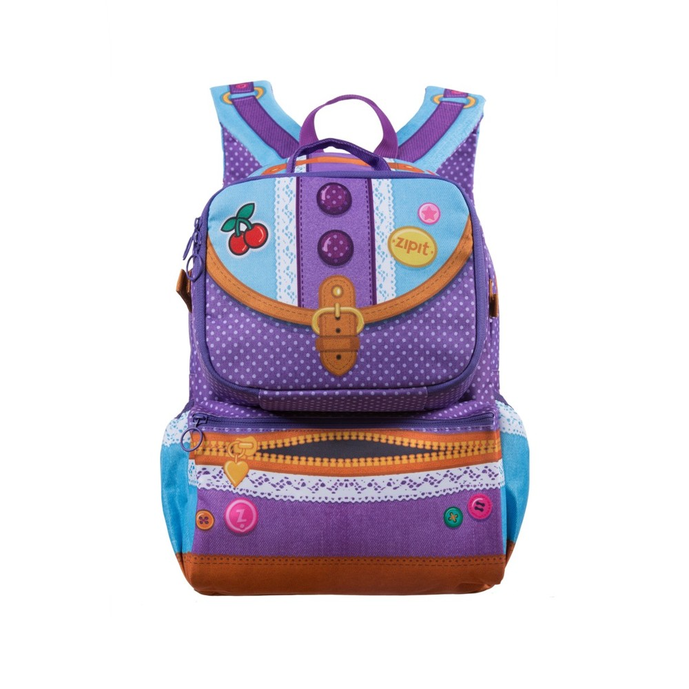 Rucsac ZIP..IT Adventure Young Fashion Designer, cu buzunare laterale