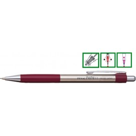 Creion mecanic metalic PENAC Pepe, rubber grip, 0,5mm, varf metalic