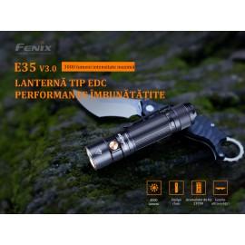 Lanterna cu led pentru activitati outdoor EDC Fenix E35 V 3.0