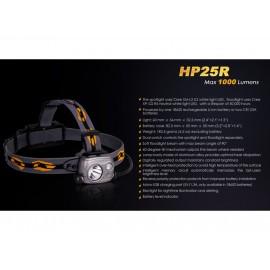 Lanterna cu led frontala reincarcabila Fenix HP25R