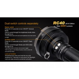 Lanterna Fenix RC40 - 6000 lumeni Editie 2016