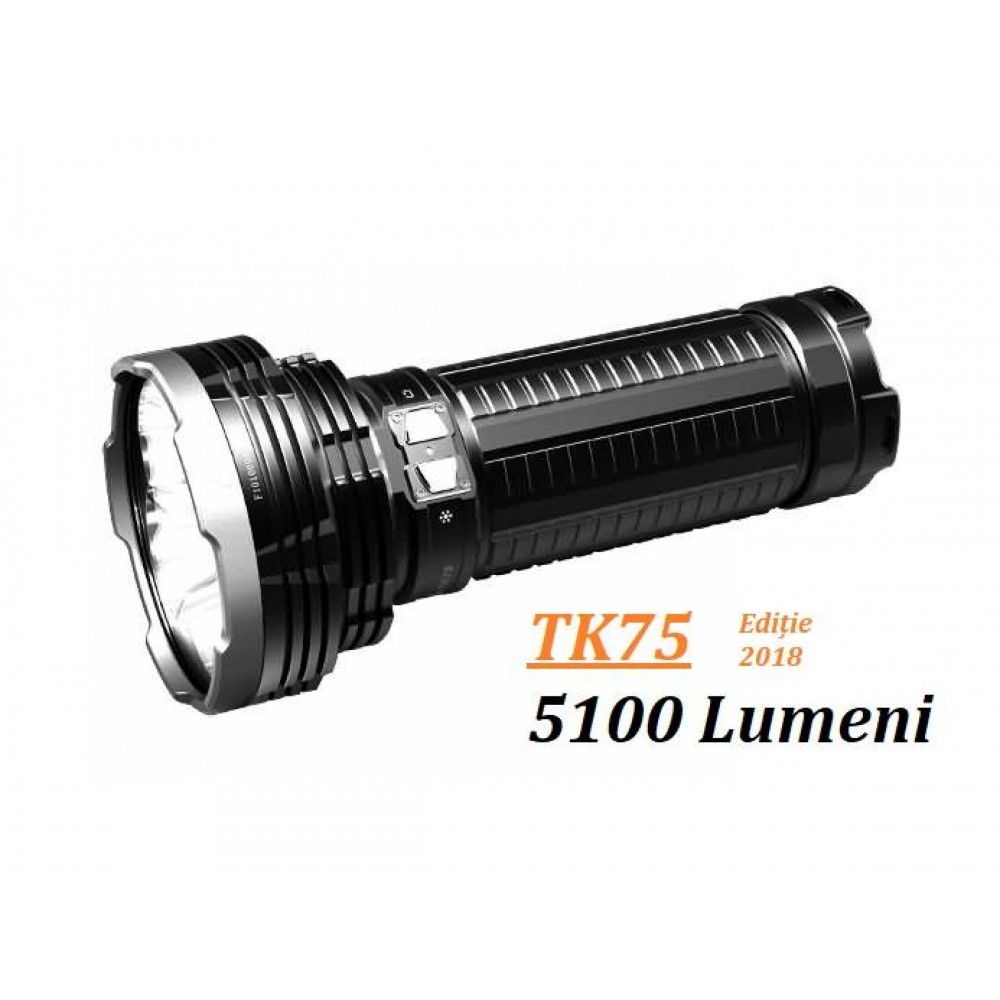 Lanterna Fenix TK75 - Ediție 2018 - Lanternă Tactică - 5100 Lumeni - 850 Metri