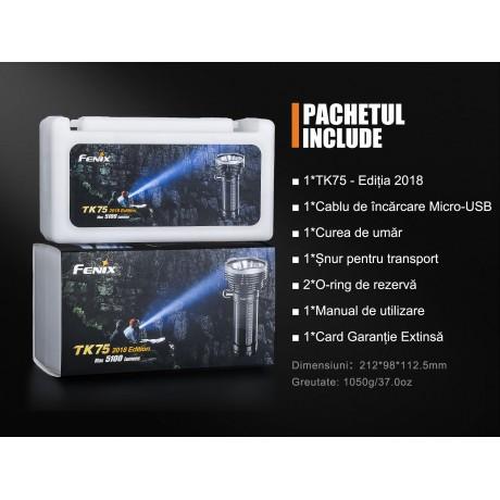 Lanterna tactica Fenix TK75 - Ediție 2018