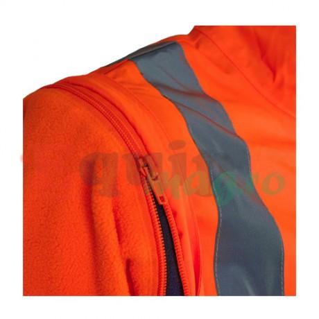 Geaca de protectie reflectorizanta 5 in 1 Gambell Portocalie