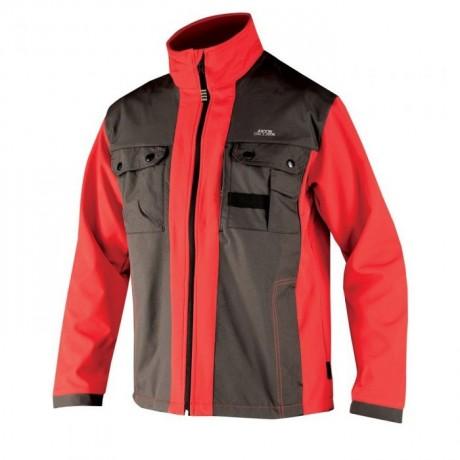 Jacheta de lucru ARDON BRICE impermeabila negru/rosu