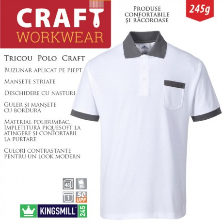 Tricou de lucru polo PORTWEST Craft KS51