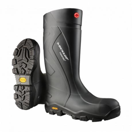 Cizme de protectie cu bombeu metalic Dunlop Purofort Termo Vibram Black S5