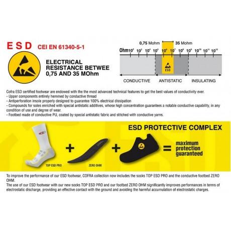 Pantofi de protectie cu bombeu din aluminiu ESD Cofra Davenport-Lime