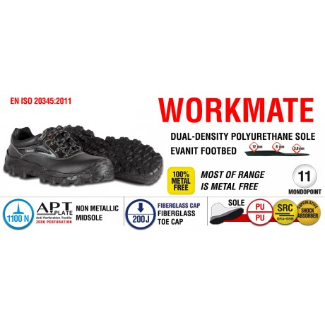 Pantofi de protectie cu bombeu fibra de sticla Cofra ORCADI S3 SRC