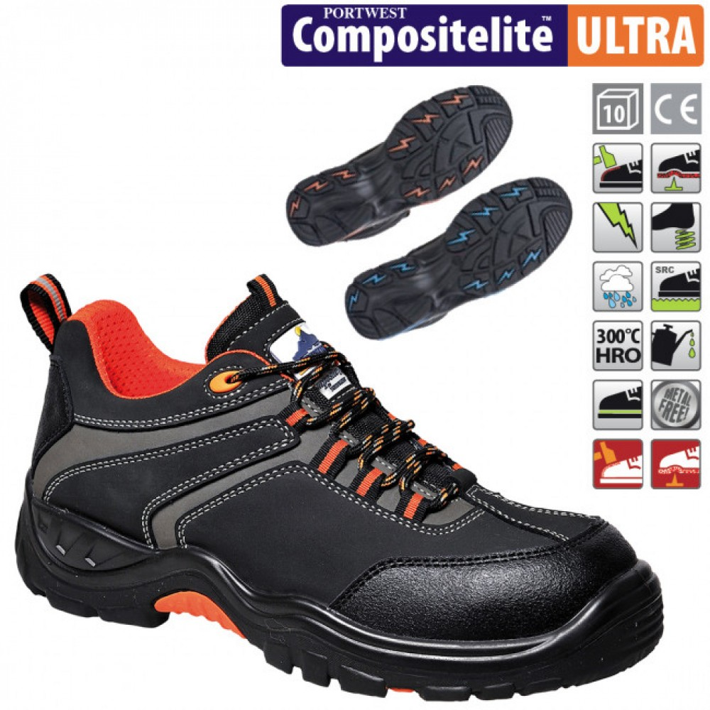 Pantofi de protectie cu bombeu compozit PORTWEST Operis S3 HRO FC61
