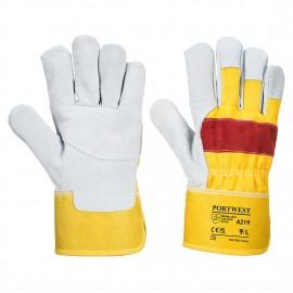 Manusi de protectie din piele spaltuita Portwest Chrome Rigger A219