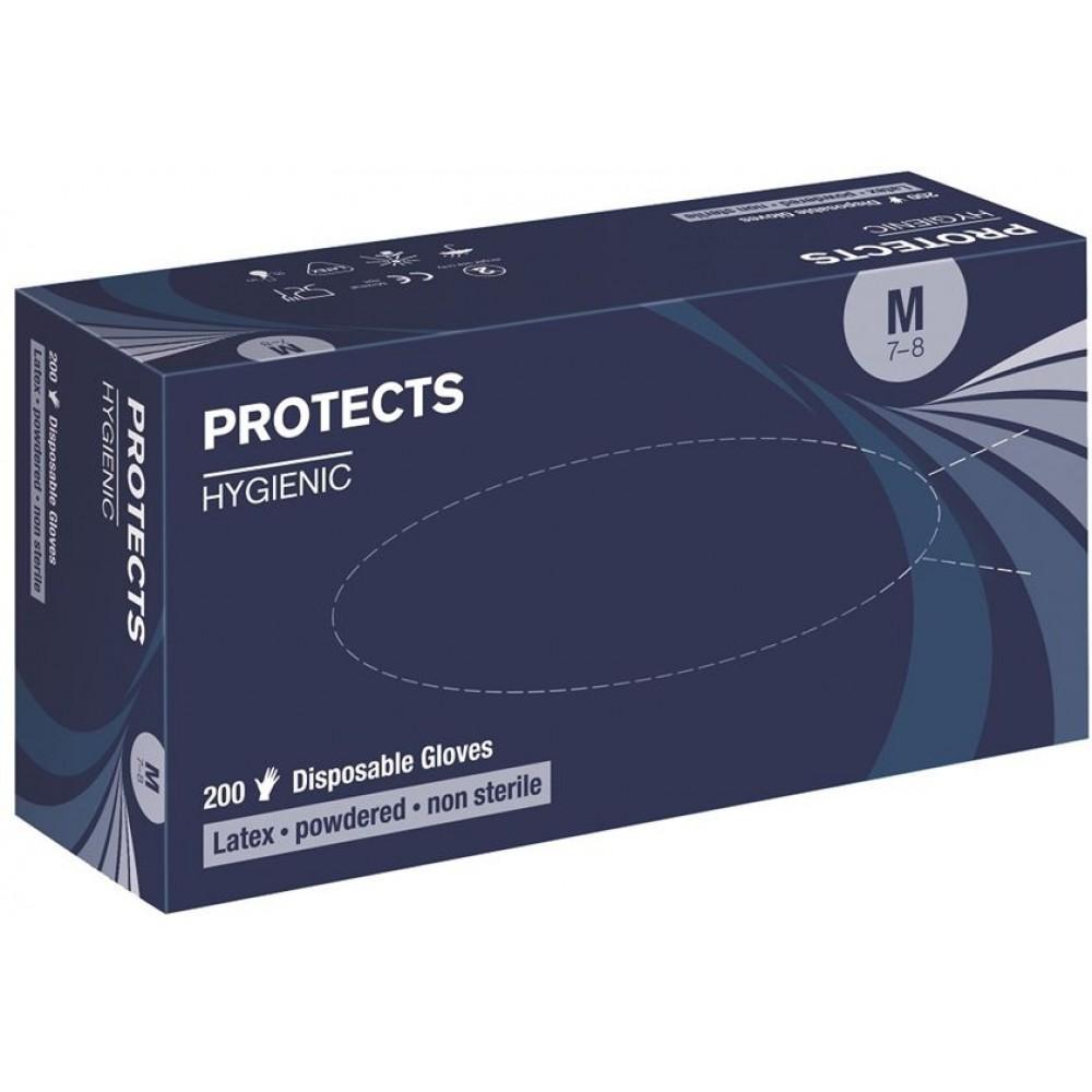 Manusi de unica folosinta din latex pudrate Protects Hygienic